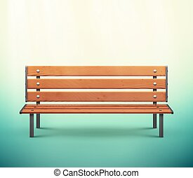 Isolated Bench - One isolated bench, eps 10