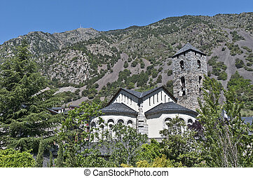 Sant Esteve at Andorra-La-Vella - Sant Esteve romanic church...