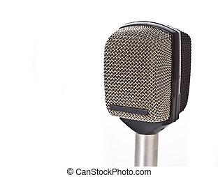 microfono, isolato, bianco