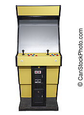 Retro arcade machine - Vintage arcade video game isolated on...