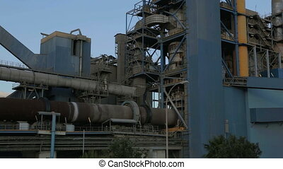 Cement factory - Establishing shot of a cement factory....