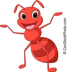 Happy ant cartoon - Vector Illustration of Happy ant cartoon...