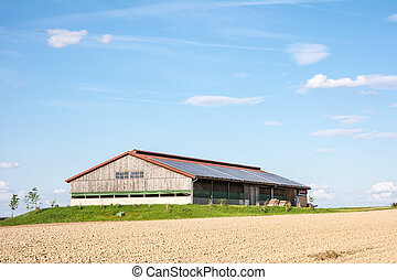 Innovative Farm - Modern barn with photovoltaic installation...
