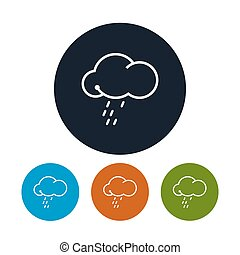 Icon cloud with the rain , vector illustration - Icon cloud...