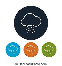 Icon cloud with hail , vector illustration - Icon cloud with...