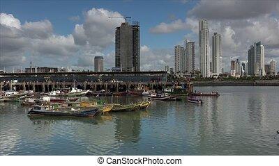 Panama City Fishers Fishing Boats - Panama City, view of the...