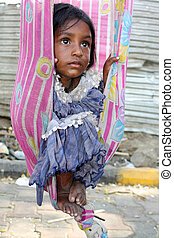 Eyes with Hope - The hopeful eyes of a very poor sick Indian...