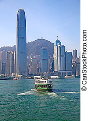 Hong Kong ferry - HONG KONG - DECEMBER 3: Ferry Meridian...