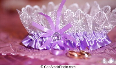Beautiful bride wedding accessories