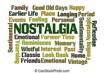 Nostalgia word cloud on white background