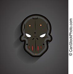 Spooky Halloween Mask Face - Spooky Horrible Halloween Mask...