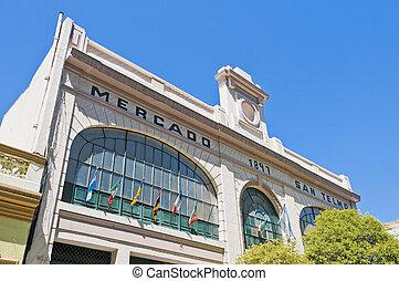 San Telmo market facade - Old San Telmo market facade