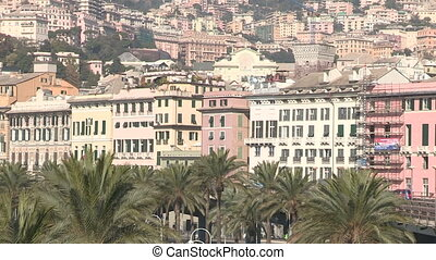 Buildings facing the port of Genoa - Buildings facing the...