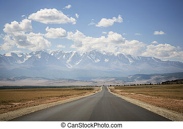 Asphalt road, Altai Mountains, Russia - Road in the...