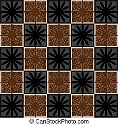 Squares seamless pattern brown colors Vector illustration