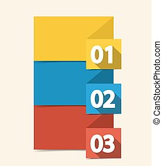 Numbered Banners - Vector design template with color...