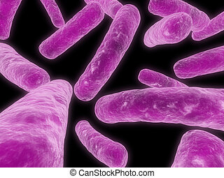 major bacteria - 3d rendered close up of some isolated major...
