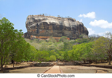around Sigiriya - sunny impression around Sigiriya, a...