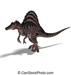 Dinosaur Spinosaurus - dinosaur Spinosaurus 3D render with...