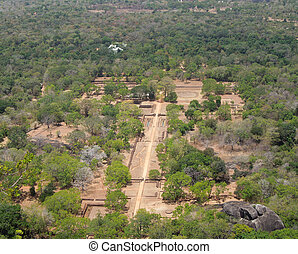 around Sigiriya - sunny high angle view around Sigiriya, a...