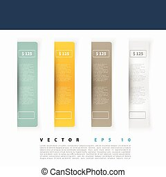 Vector Set of blank rectangle labels