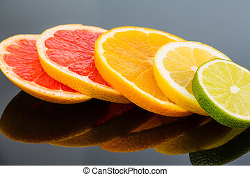 orange slices - slices of an orange photo icon for healthy...