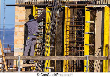 construction of a residential building - building site for a...