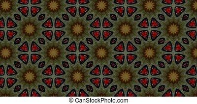 Kaleidoscope - Beautiful changing patterns background...