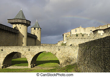 Carcassonne - Medieval castle in Carcassonne, France