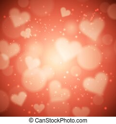 Heart valentine light vector background made in vector