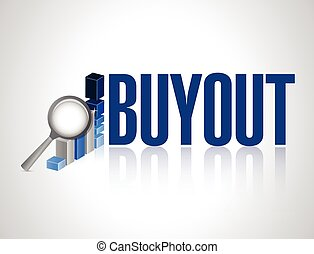 buyout business graph review sign illustration design over a...