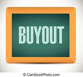 buyout board sign illustration design over a white...