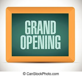 grand opening chalk board sign