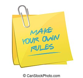 make your own rules memo post illustration design over a...