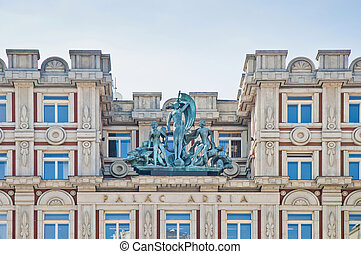 Adria Palace at Prague - Adria Palace facade located at...
