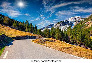 Col de la Bonette pass, Saint Dalmas le Selvage, Alps,...