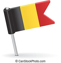 Belgian pin icon flag Vector illustration Eps 8