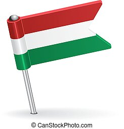 Hungarian pin icon flag Vector illustration Eps 8