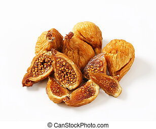 Dried figs - Studio shot of dried figs