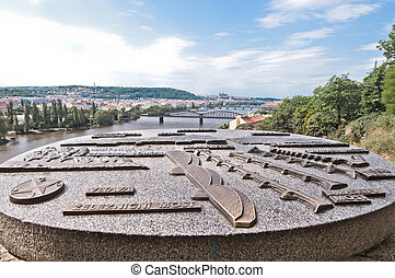 Vltava river from Vysehrad - Vltava river as seen from...