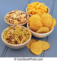 Savory Snack Food - Savory snack party food selection in...