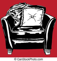 cuero, silla