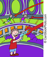 Laser Games cartoon