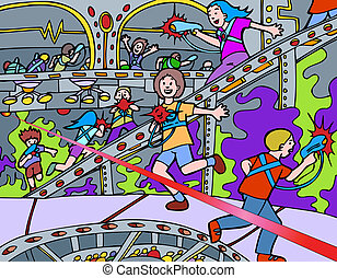 laser tag image cartoon.