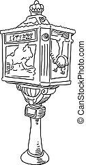 Mailbox drawing.