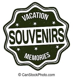 Souvenirs stamp - Souvenirs grunge rubber stamp on white...