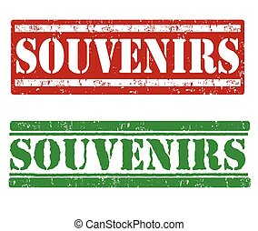 Souvenirs stamps - Souvenirs grunge rubber stamps on white...