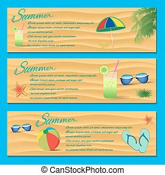 Summer Flyer Template - Vector Illustration, Graphic Design,...
