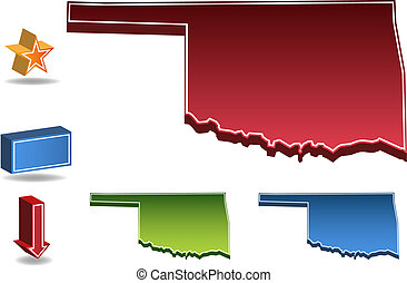 Oklahoma State map.