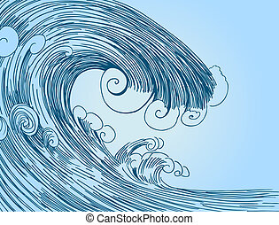 Blue Tsunami drawing.